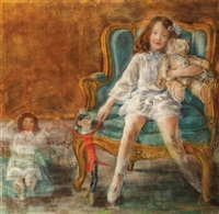 in the play room by lucien lévy-dhurmer