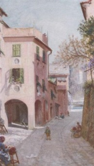 the old palace, portofino by sigismund christian hubert goetze