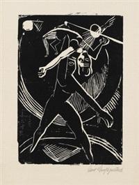 kurtisane (+ akrobaten; 2 works) by curt grosspietsch