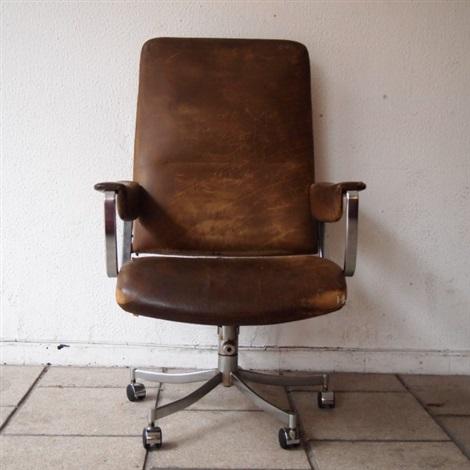 Rare Fauteuil De Bureau Design Vers 1960 By Preben Fabricius