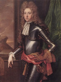portrait of a young gentleman wearing armour by john medina