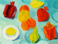 still life with fruit by lidia khanamiryan