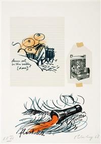 untitled (drum set) (notes portfolio) by claes oldenburg