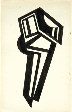 vorticist design for antwerp by wyndham lewis