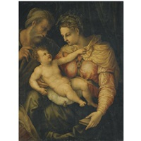 the holy family by perino del vaga