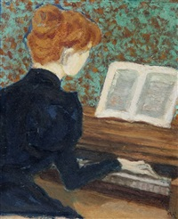 mademoiselle gachet au piano by dr. paul ferdinand gachet