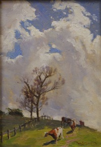cloud and cows by perceval charles (percy) lindsay