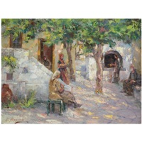 a sunlit courtyard by oumbertos argyros
