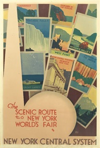 the scenic route to new york world's fair/new york central system by leslie ragan