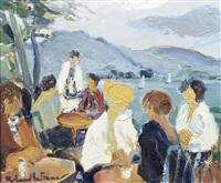 terrasses à talloires by roland lefranc