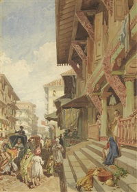 street in bombay by william simpson