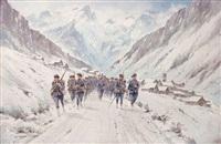 chasseurs alpins devant le chazelet-la-meige by bernard rambaud