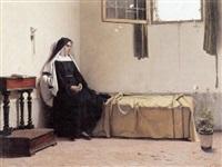 ung nonne fordybet i tanker på sit kammer by luigi busi
