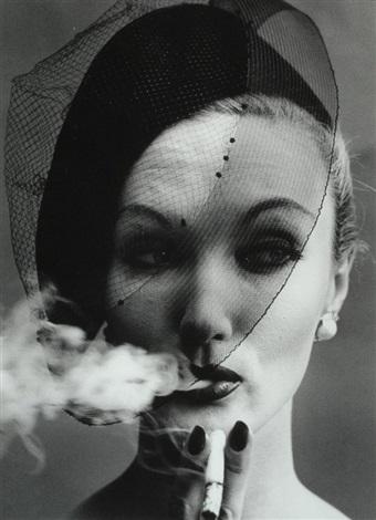 smoke and veil, paris (vogue) by william klein