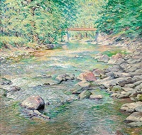 along the wissahickon by elizabeth fisher washington