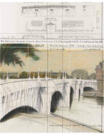 the pont neuf wrapped project for paris in 2 parts by christo and jeanne claude