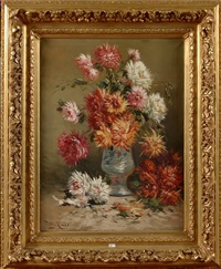 vase de dahlias by henry schouten