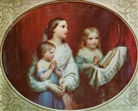 three children praying by hippolyte dominique holfeld