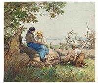 landbewohner bei der rast by hans am ende
