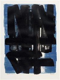 lithographie n°5 by pierre soulages