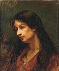 portrait de femme by jules emmanuel valadon