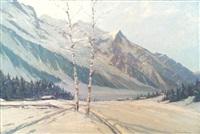 neige dans la vallée de chamonix by charles henry contencin