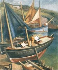 barques de peche a doelan by jules leray