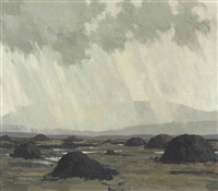 peat stacks by paul henry
