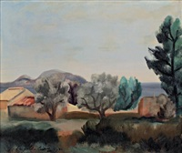 paysage de provence by leopold-levy