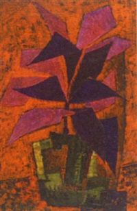 still life of a plant by inez hoyton