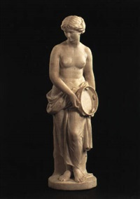 female dancer with tambourine by edward william physick