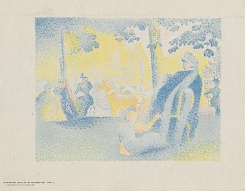 in den champs-élysées (from pan) by henri edmond cross