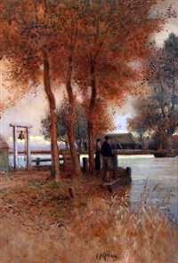 the ferry, buckenham by charles mayes wigg