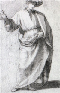 standing man wearing a cloak and hat by giovanni mannozzi