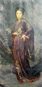 woman in kimono by greta kempton