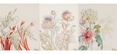 fleurs 5 works by henri privat livemont