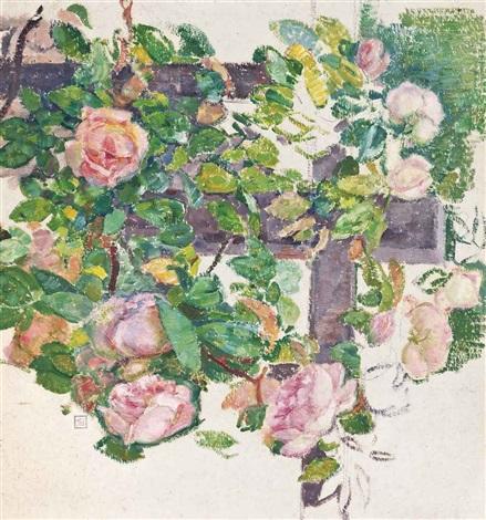 les roses grimpantes by théo van rysselberghe