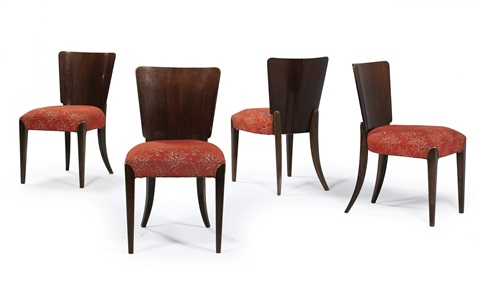chairs model no h 214 set of 4 by jindrich halabala