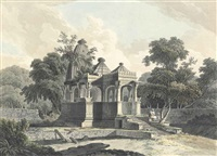 an antient hindoo temple, in the fort of rotas, bahar (abbey travel, 420, pl. 12) by thomas daniell