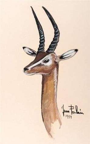 Tête de gazelle by Jean Poulain on artnet
