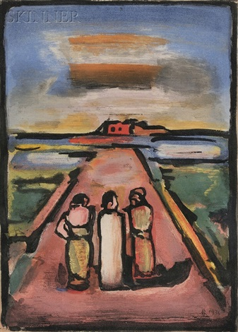 les disciples from passion by georges rouault