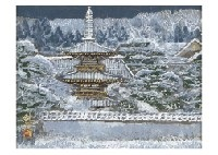 tower in the snow by sumio goto