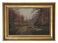 autumnal landscape by william mckendree snyder