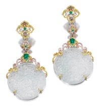 a pair of pendant earrings by michael youssoufian