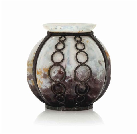 Glass And Wrought Iron Vase By Daum And Louis Majorelle On Artnet