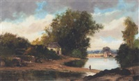 river landscape by charles camille morin