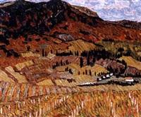 la montagne des vignes rouges by n. jirnov