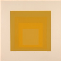 homage to the square (jaune) by josef albers