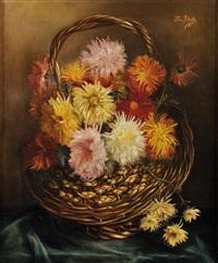 bouquet de fleurs dans un panier d'osier by flore gelendts