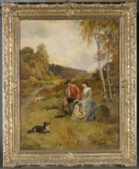 pastoral scene by henry john yeend king